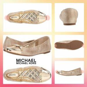MICHAEL Michael Kors Joyce Ballet Pale Gold Flats